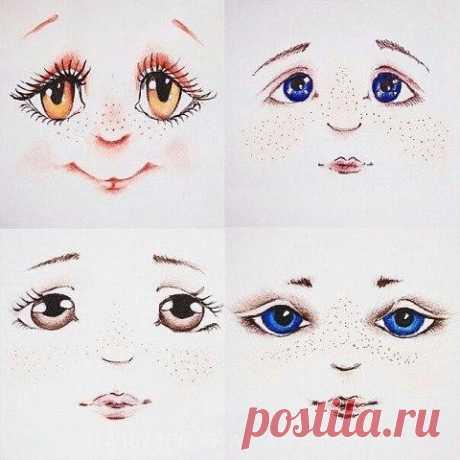 Как нарисовать кукольное личико