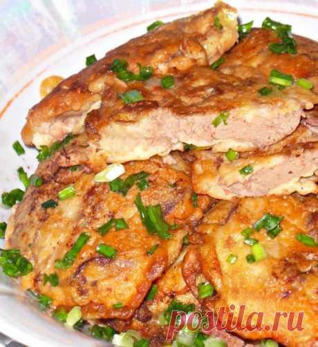 Куриная печень в сметано-чесночном кляре