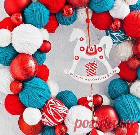 Как применить цвета года Синей Деревянной Лошади в новогоднем декоре   МОЯ КВАРТИРА