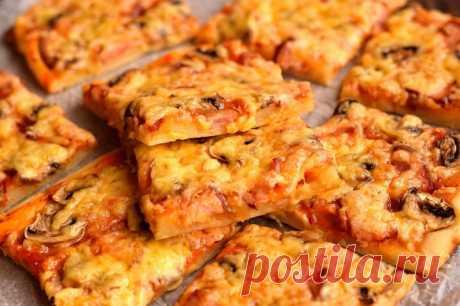 Пирог-пицца - быстрая, вкусная и сытная выпичека