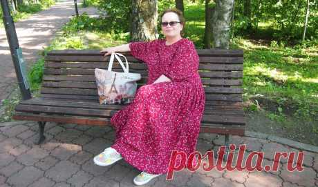 Платье-балахон большого размера. Сложно ли сшить? Не очень. Не знаете, как - следуйте описанию   Подушкины секреты   Яндекс Дзен