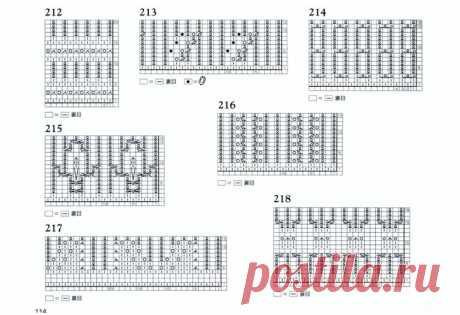 72 узора спицами для оформления края изделия… Коллекция красивых узоров для оформления края спицами!