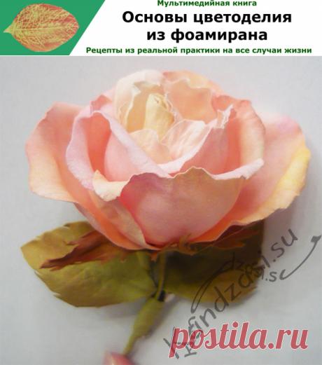 Мастер класс: как сделать бенгальскую розу из фоамирана.
