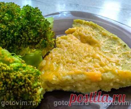 Картофельная запеканка с брокколи, сыром и творогом.