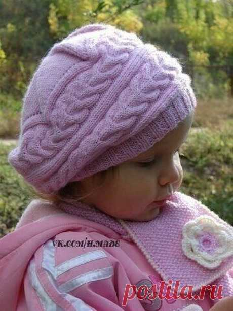 Берет с клиньями для девочки | Моё хобби.Вязание для детей. | Яндекс Дзен