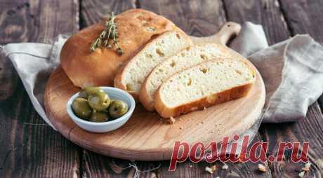 Оливковый хлеб, пошаговый рецепт с фото