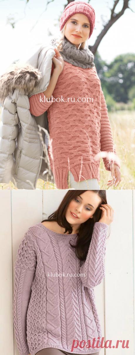 Рельефные пуловеры спицами - 2 модели - Klubok.ru.com
