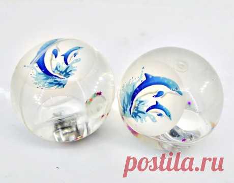 Купить Мяч прыгун Дельфин, свет,  дисплей, арт.635879