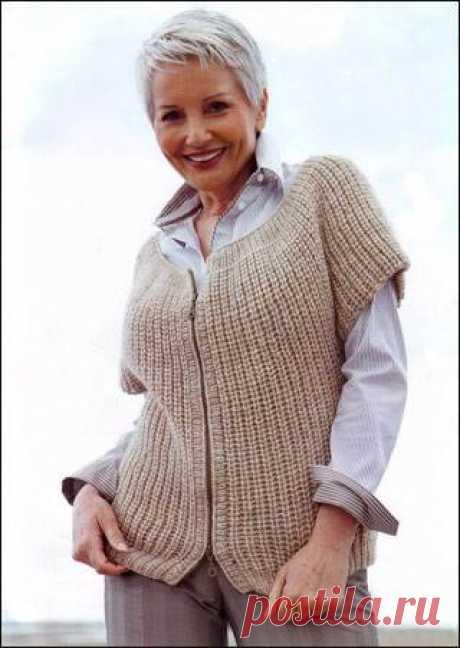 Вязание-спицы-Безрукавки и Жакеты