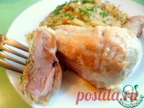 Окорочка с сыром и картофелем в фольге - кулинарный рецепт