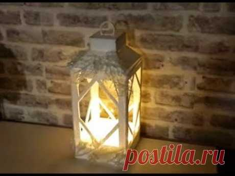 DIY ФОНАРЬ ИЗ ПОТОЛОЧКИ...DIY Decorative lantern made of wood..