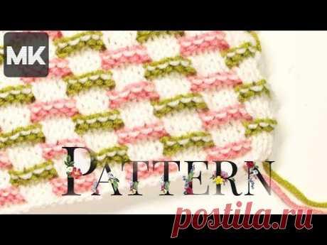 НЕЖНЫЙ УЗОР ЛЕНИВЫМ ЖАККАРДОМ / МК по вязанию узора спицами для одежды и аксессуаров / Knit pattern