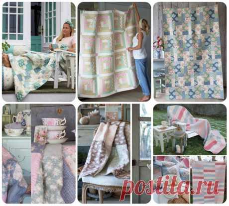 Лоскутные одеяла от Тоне Финнангер ( и сумка )
