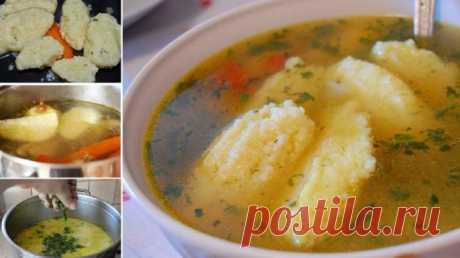 Нежный постный суп с воздушными клецками. Секрет супа в лучших специях и зелени!