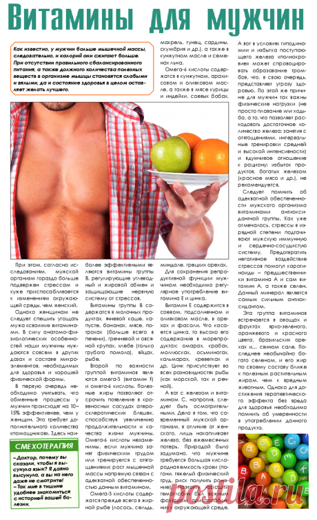 Las vitaminas para los hombres