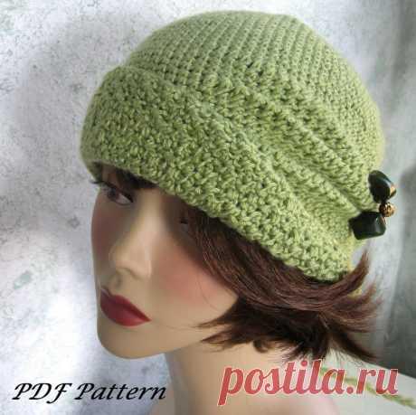 Теплые дамские шляпки-клоше, вязание крючком — Рукоделие