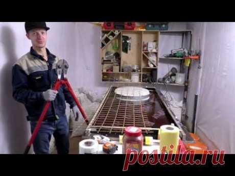 Как сделать кухонную столешницу из бетона. Часть I. Concrete countertop diy.