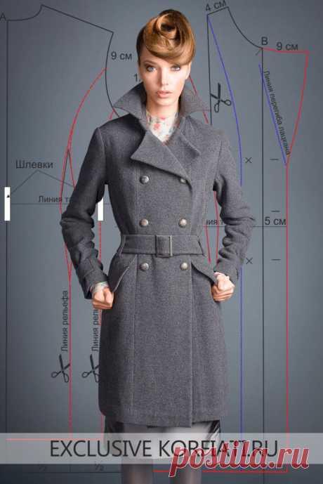 Выкройка классического пальто  https://korfiati.ru/2016/11/vyikroyka-klassicheskogo-palto/  Это шикарное и одновременно строгое классическое пальто от Gentle Dolls сегодня на пике популярности. Добротное серое сукно надежно защитит вас от осеннего ненастья, а широкие отвороты лацканов пальто легко запахнуть — и никакие ветра вам не страшны! Прежде чем приступить к моделированию выкройки и пошиву этого классического пальто, необходимо построить выкройку-основу пальто по собственным меркам.