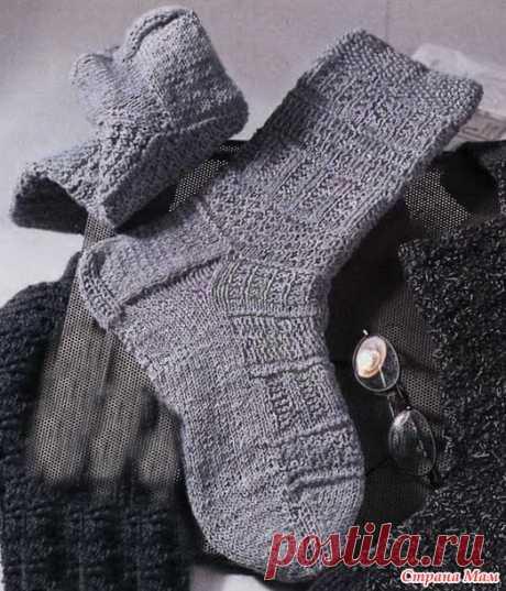 Los calcetines de hombre, podborochka. - la Labor de punto - el País de las Mamás