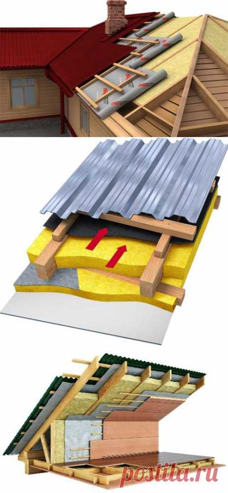 How to warm a roof it is correct? Technology of warming of a roof