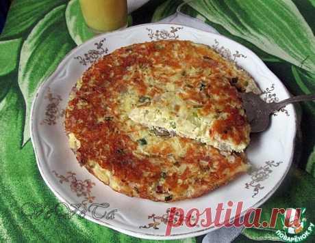 Луковый пирог на сковороде – кулинарный рецепт