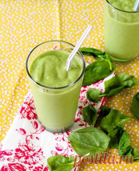 Зелёный смузи. Полезная альтернатива свежим овощам и фруктам.