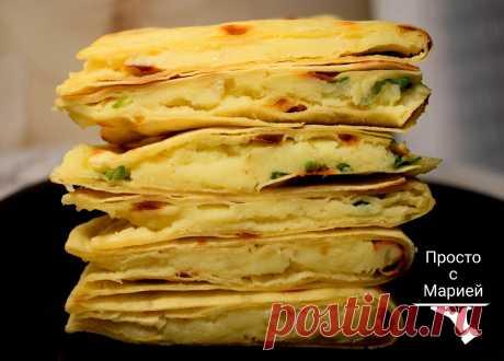 Кыстыбый - татарские лепёшки с картошкой: очень вкусно, а главное, что все продукты доступные | Просто с Марией | Яндекс Дзен