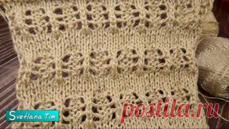 """АЖУРНЫЙ УЗОР СПИЦАМИ. Вяжем узор """"RITA"""" - интересный ажур для весны и лета / knitting pattern № 598"""