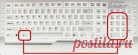 Некоторые комбинации для ввода символов с клавиатуры