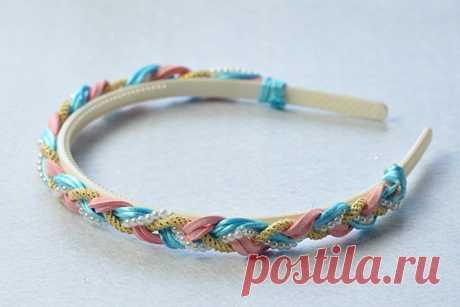 Pandahall Original DIY Project - How to Make a Handmade Pearl Beads and Cords Braided Headband-Pandahall.com