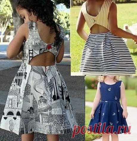 Выкройка платья с открытой спиной для детей от 1 до 14 лет (Шитье и крой) | Журнал Вдохновение Рукодельницы