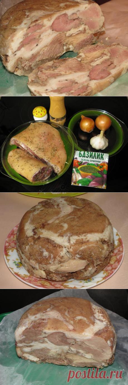 Прессованное мясо из рульки в мультиварке : пошаговый рецепт