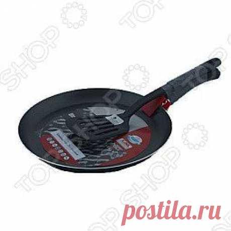 Блинница Flonal Black&Silver с лопаткой придется по душе каждой хозяйке. Посуда имеет высокотехнологичной антипригарное покрытие (AKZO NOBEL). Внешнее покрытие - эмаль.