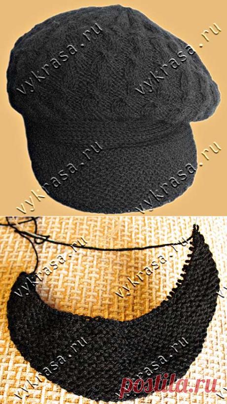 Как спицами связать женскую кепку