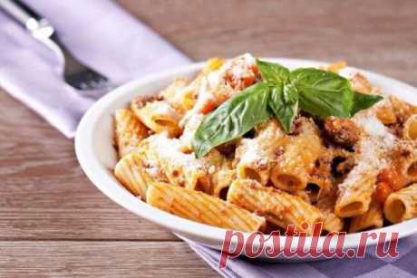 Ригатони с баклажаново-сырным соусом. Итальянская кухня для фанатов здорового питания