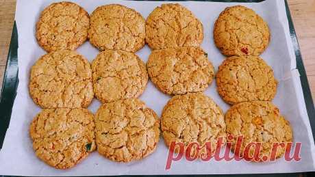 Овсяные печенья с цукатами - InVkus