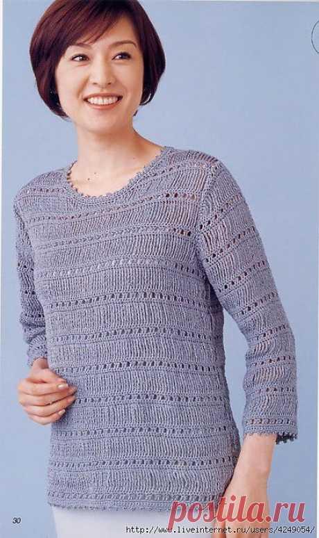Пуловер. Интересный узорчик!