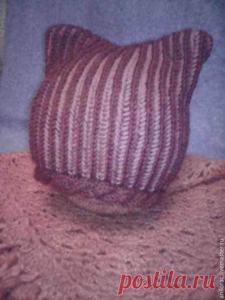 Вяжем по кругу котошапку в технике «бриошь» – Ярмарка Мастеров