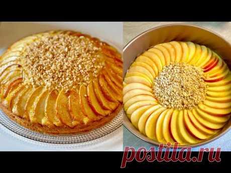 Возьми 2 ЯБЛОКА и сделай этот потрясающий торт! ЭКСТРА РОСКОШНЫЙ завтрак! ОЧЕНЬ ПРОСТО!