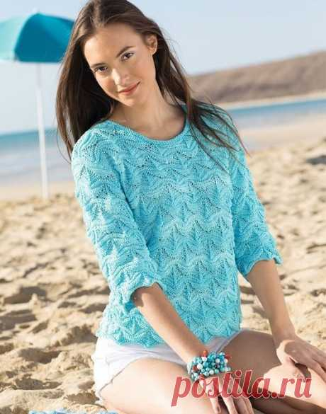 Pullover for women - Knitting by spokes for women - the Catalogue of files - Knitting for children