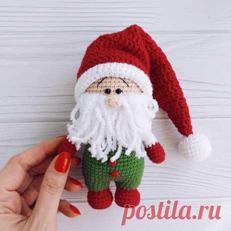 Рождественский гном крючком | Схемы амигуруми