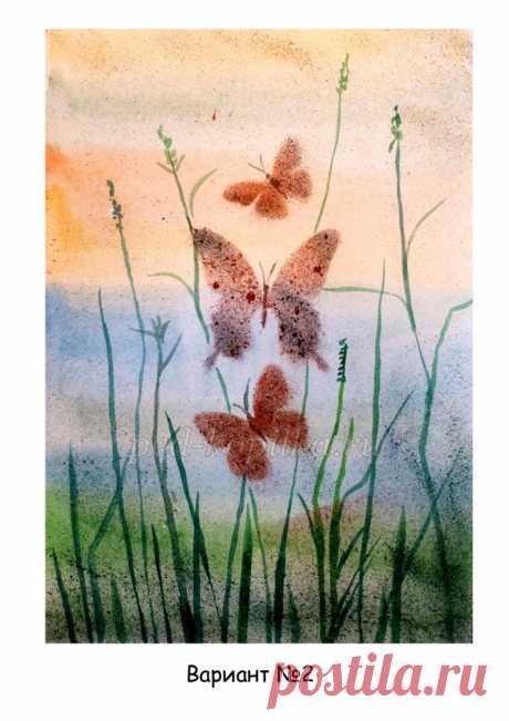 Рисование бабочки поэтапно