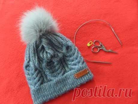 Часть 2 Шапка с двойной резинкой и колосками. Knitting(Hobby) - YouTube