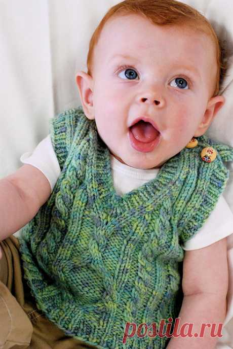 """Children's vest from arana """"Пембрук"""" spokes: the sizes from 6 months to 8 years   my Eyelets"""