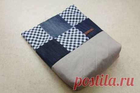 Оригинальная сумка из старых джинсов и ненужных лоскутов: удобно и просто — Сделай сам, идеи для творчества - DIY Ideas