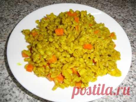 El desayuno en 170 kkal. Preparo la cebada perlada es sabroso y rápidamente;)