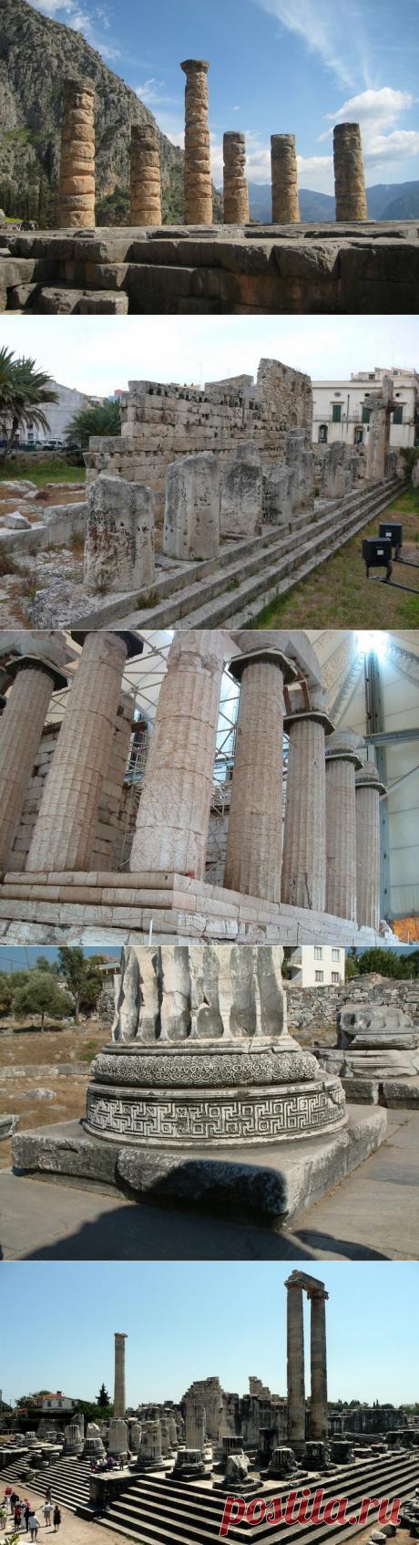 El templo de Appolona es el templo más antiguo situado en la ciudad antigua de Grecia — Delfa. - Viajamos juntos