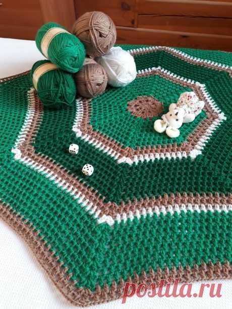 Яркий коврик крючком. Схема. / knittingideas.ru