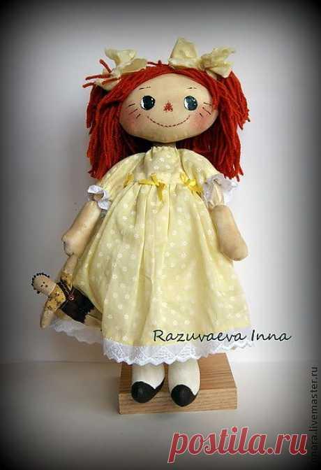 Тряпичная кукла Лялечка. - тряпичная кукла,тряпичная игрушка,кукла,подарок подруге