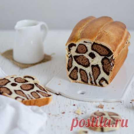 Французский пекарь раскрывает секрет, как приготовить молочный хлеб с леопардовым рисунком